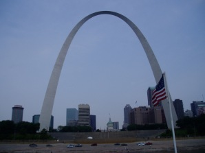 It's huge. We had to take a Mississippi River trip to get far enough away to fit the whole gateway Arch into the viewfinder!