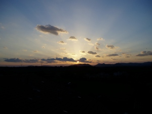 . . . . at sunset.