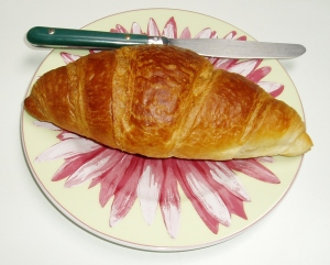 A perfect croissant to have with morning coffee.