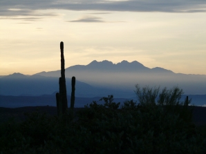 Four Peaks - a different view than from our balcony.
