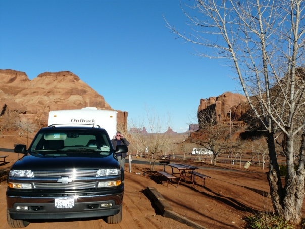 One our favorite campgrounds: Monument Valley UT