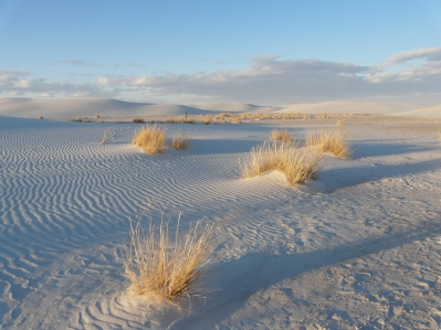 White Sands National Monument NM, 275 square miles of dunes - nowhere near the sea!