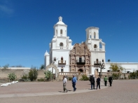 Mission San Xavier del Bac, and still the blue sky.