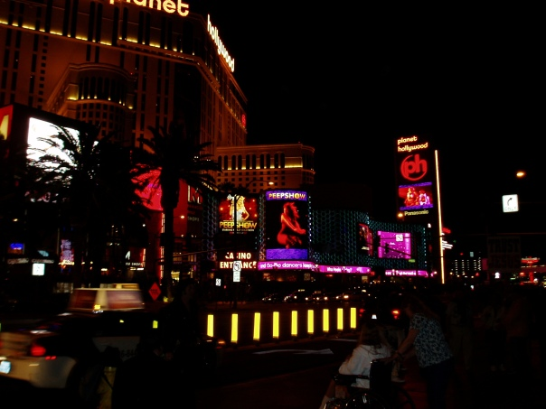 Vegas after dark.