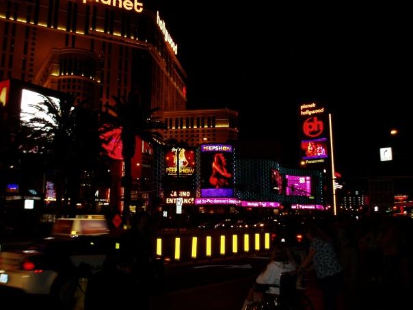 Vegas after dark.