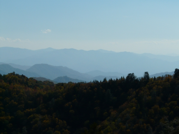 The Smoky Mountains living up to their name.