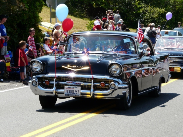 Look! Sunshine! 4th of July parade, Steilacoom WA