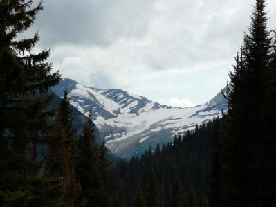 What's left of the glacier at Glacier National Park