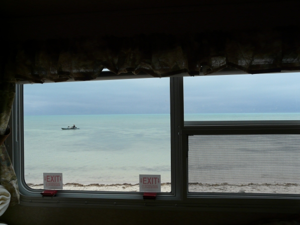 The view from the bedroom window on a nicer day!