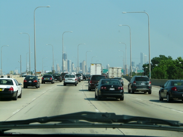 Doesn't look so bad in the photo. I must have picked up the camera when there was a gap in the traffic.
