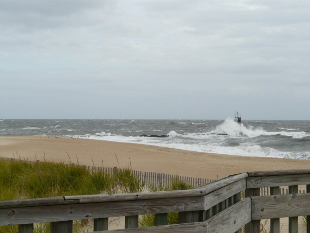Cold, gray, bleak, uninviting. Welcome to the Delaware Seashore!