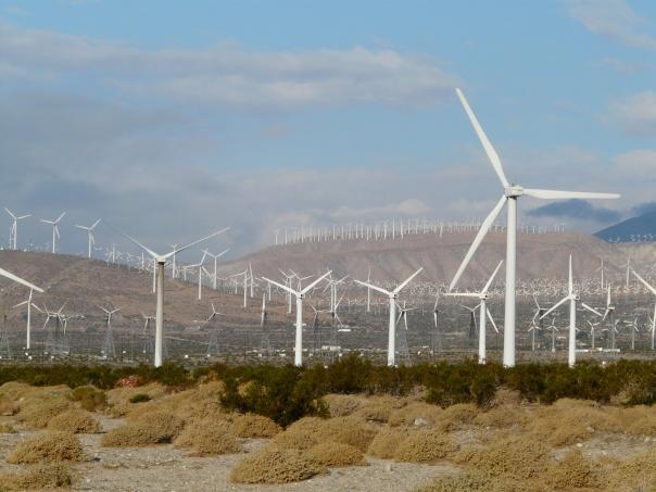 Wind turbines, San Gorgonio Pass, Palm Springs CA