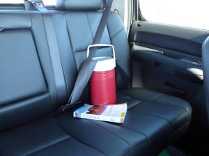 Our noisy back seat passenger.