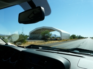 Uh-oh! If you've traveled in the Southwest, the distinctive Border Control canopy is immediately recognizable.