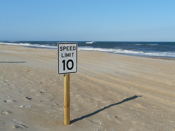 speed limit on the beach