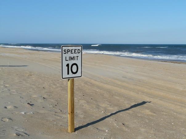 speed limit on the beach