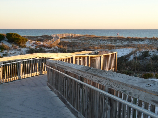. . . to the sea. How could you NOT walk on this boardwalk?