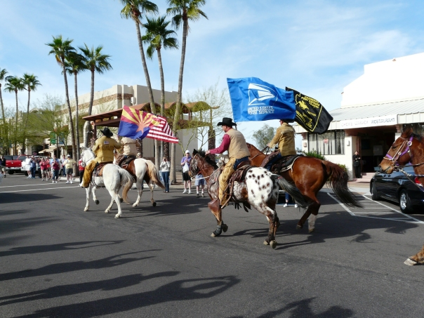 The Hashknife Pony Express representing the State of Arizona, the United States of America, the United States Postal Service and the Pony Express