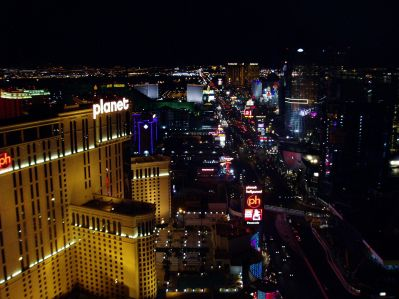 "Las Vegas Strip from the top of the ""Eiffel Tower"""
