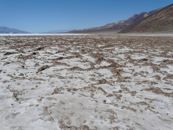 You want me to walk across that?  Salt flats of Death Valley