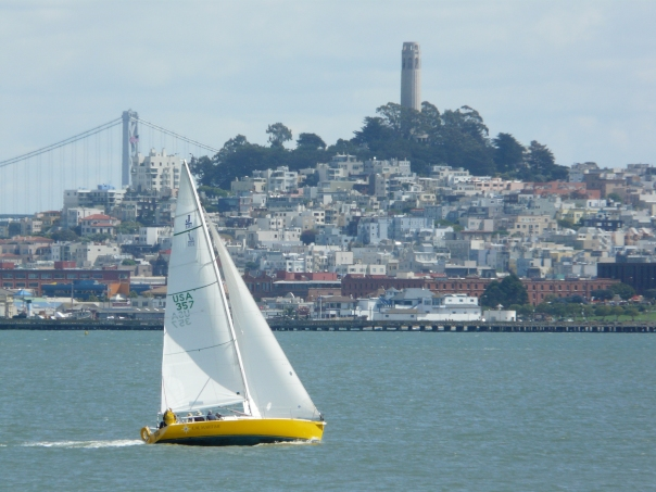 Couldn't he chill and remember our cruise on San Francisco Bay past Coit Tower?