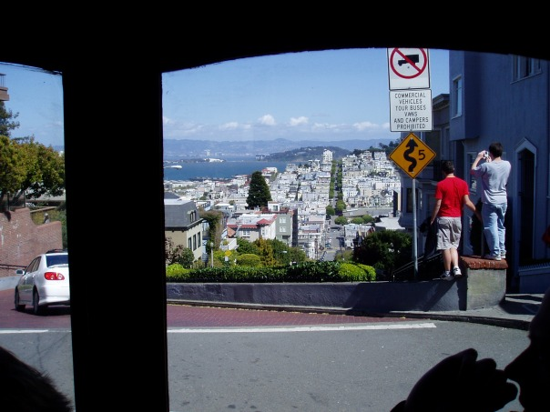 Maybe I daydreamed a little. We passed the top of the famous Lombard Steet on the streetcar, I took a photo and didn't even know it until I downloaded it! I should do more homework on our destinations like Mona Lisa!