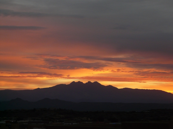 Sunrise over Four Peaks Arizona