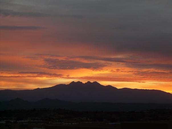 Sunrise over Four Peaks Arizona