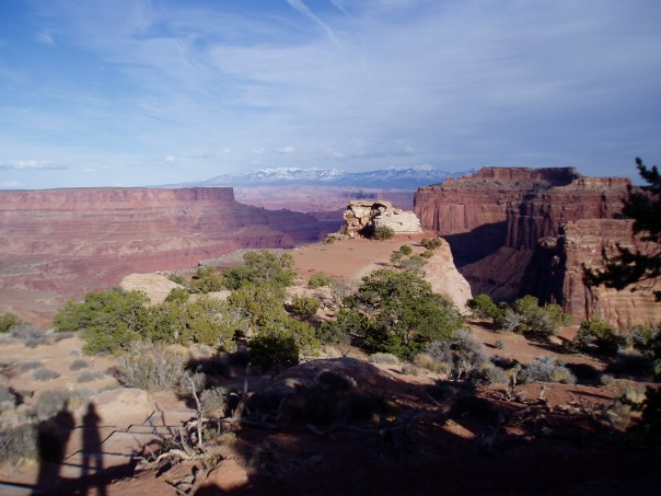 A shadow of our former selves in Canyonlands National Park, Utah