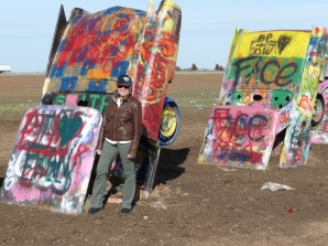 Cadillac Ranch, Amarillo TX. Cold!