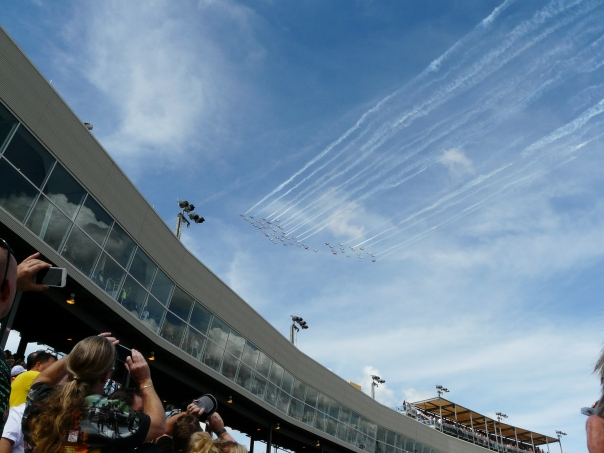 50 plane fly past at Phoenix NASCAR