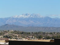 Snow on Four Peaks AZ