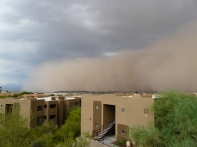 Dust storm, Fountain Hills AZ
