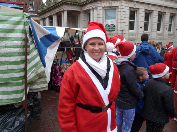 Santa Run, Ipswich, Suffolk, England