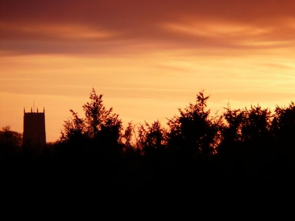 Sunset, Cley Church, Norfolk