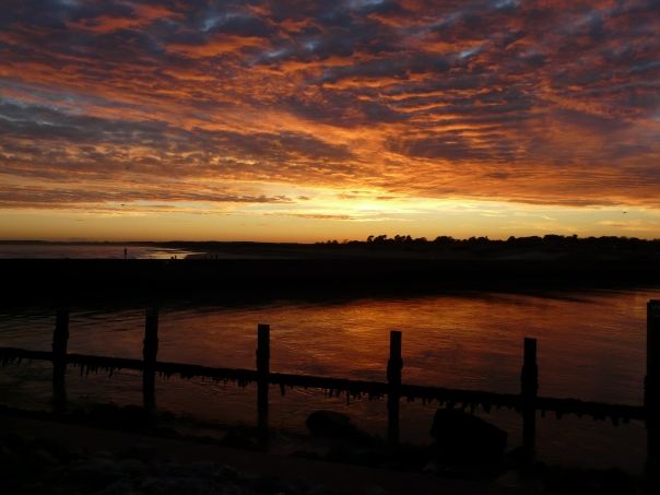 sunset in southwold